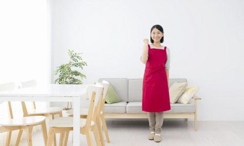 家の整理整頓をした女性